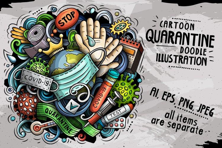 Cartoon vector doodles Quarantine illustration example image 1