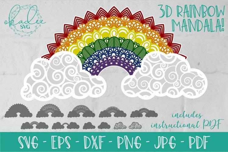 Download 3d Mandala Rainbow Svg Layered Mandala Rainbow Mandala Svg 715524 Paper Cutting Design Bundles