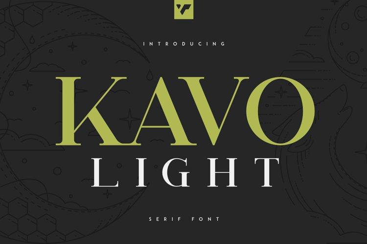 Kavo Serif Light example image 1