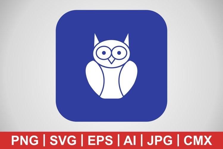 Vector Graduate Owl Icon example image 1