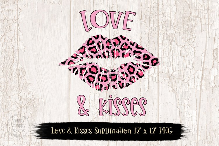 Pink Leopard Print Love Sublimation Design