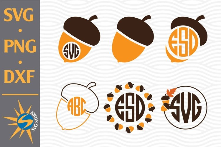 Acorn Monogram SVG, PNG, DXF Digital Files Include example image 1