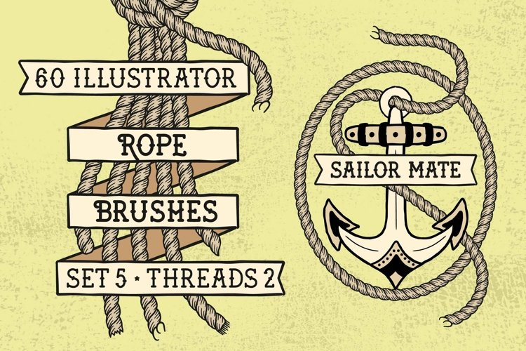 Sailor Mate's Rope Brushes V - Threads 2 example image 1