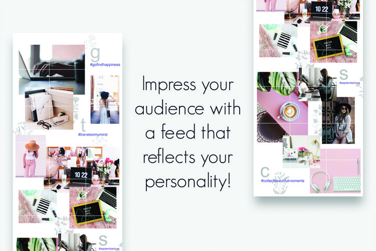 Instagram Puzzle Feed Template 2 example 2