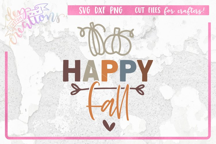 Happy Fall - SVG DXF PNG - clipart