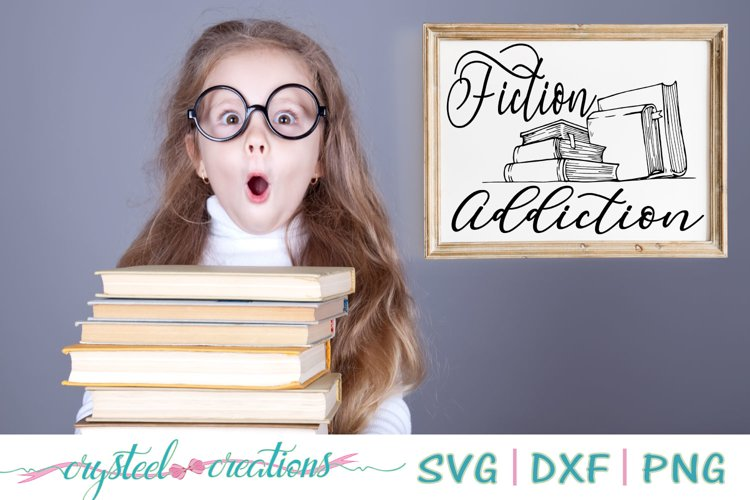 Fiction addiction SVG, DXF, PNG example image 1