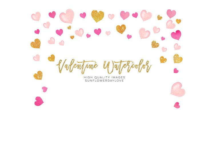 Pink Valentines frames, Heart wreaths, Pink borders clipart example image 1