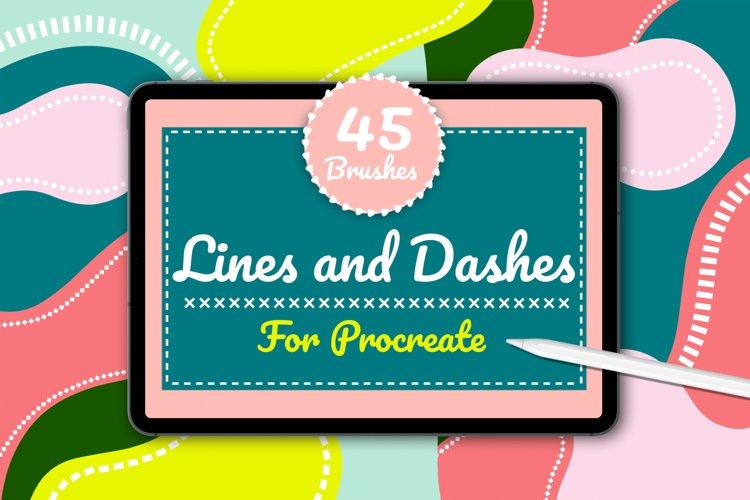 Lines & Dashes Procreate brush set example image 1