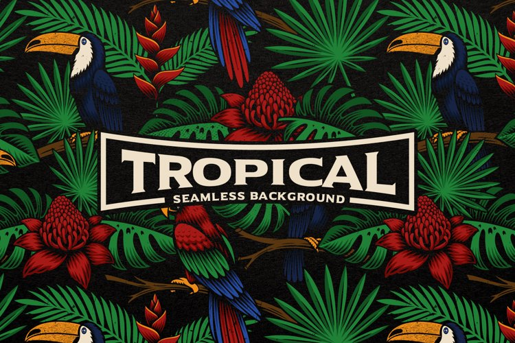 A Tropical Seamless Background