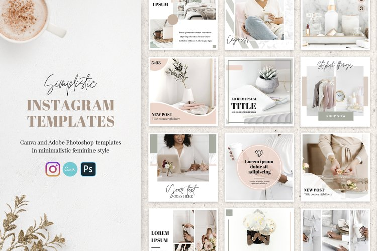 Canva Instagram Templates Simplistic