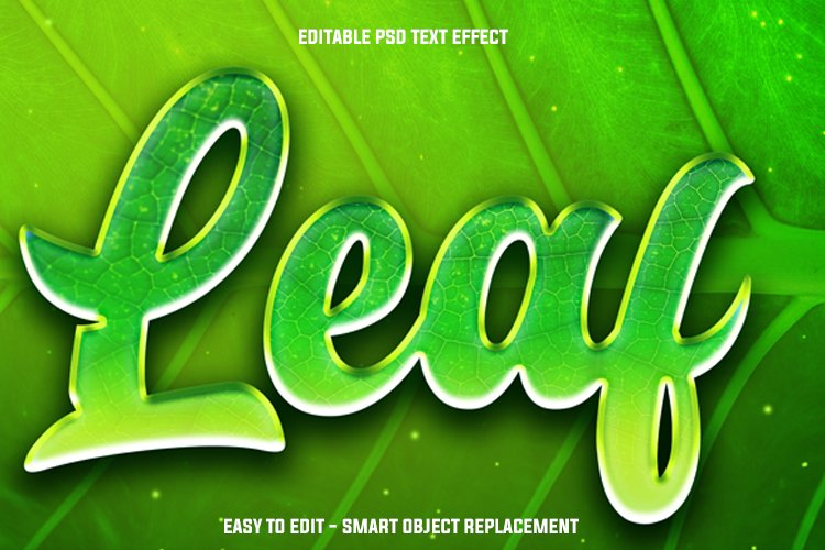 leaf green text effect example image 1