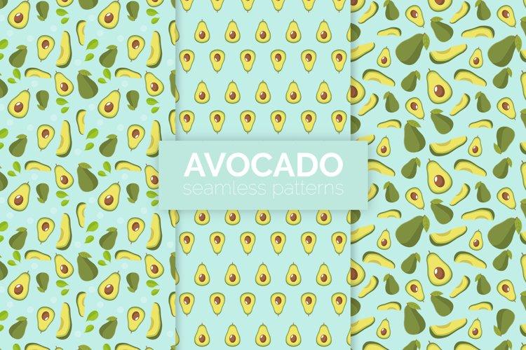 Avocado Seamless Patterns example image 1