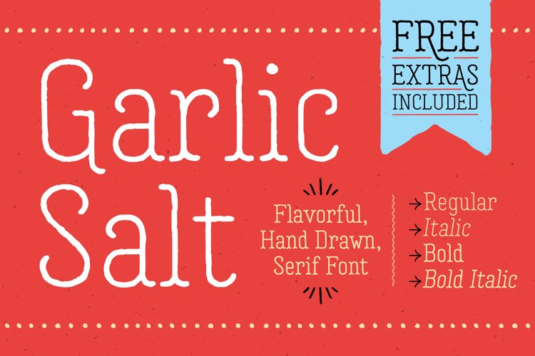 Garlic Salt Font Family example image 1