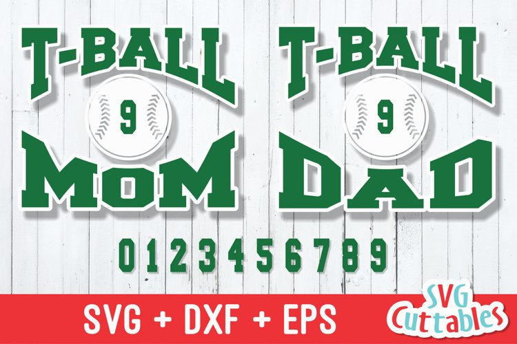 T-ball SVG   T-ball Mom / Dad   Shirt Design example image 1