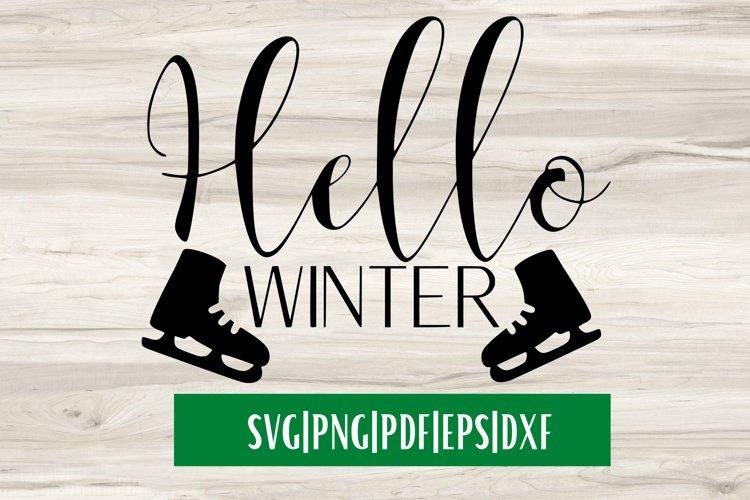 Hello Winter SVG| Christmas SVG example image 1