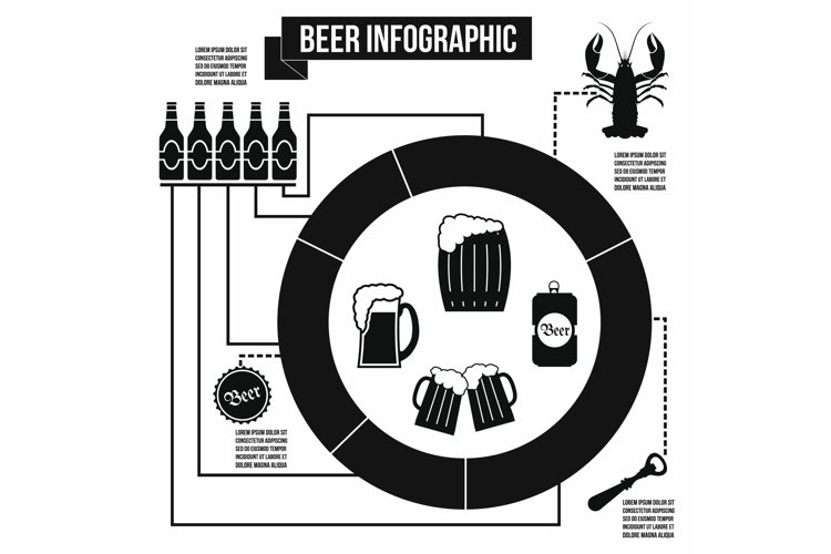 Beer infographic, simple style example image 1