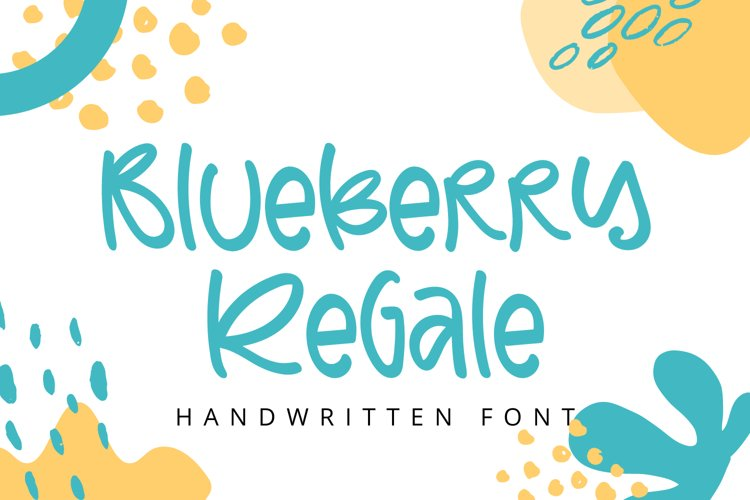Blueberry Regale - Unique Handwritten Font example image 1