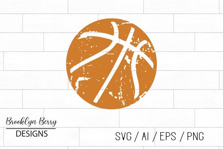 Grunge Basketball Distressed SVG example image 1