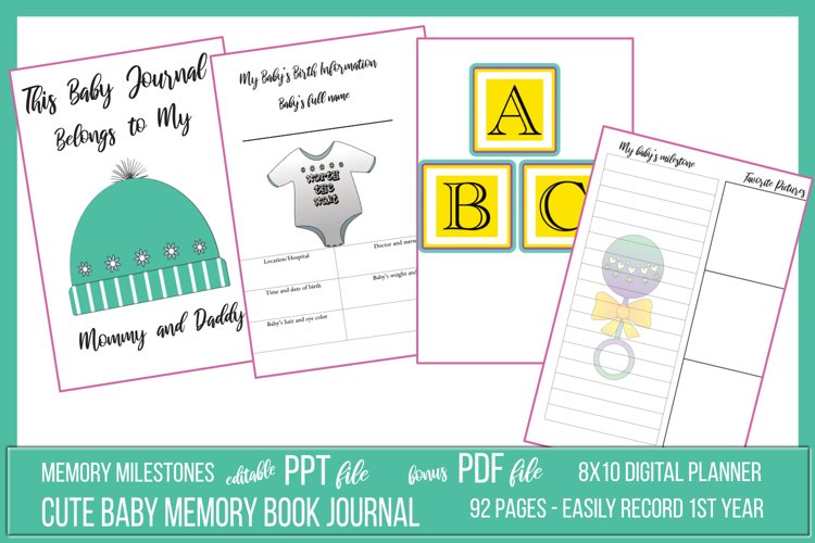 My Cute Baby Journal Package example image 1