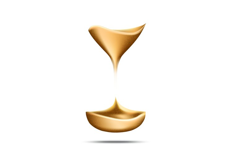Hourglass Falling Sand Measuring Time Tool Vector example image 1
