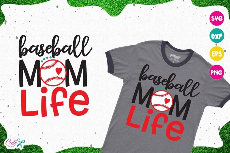 Baseball mom life SVG, cut files for craftter example image 1