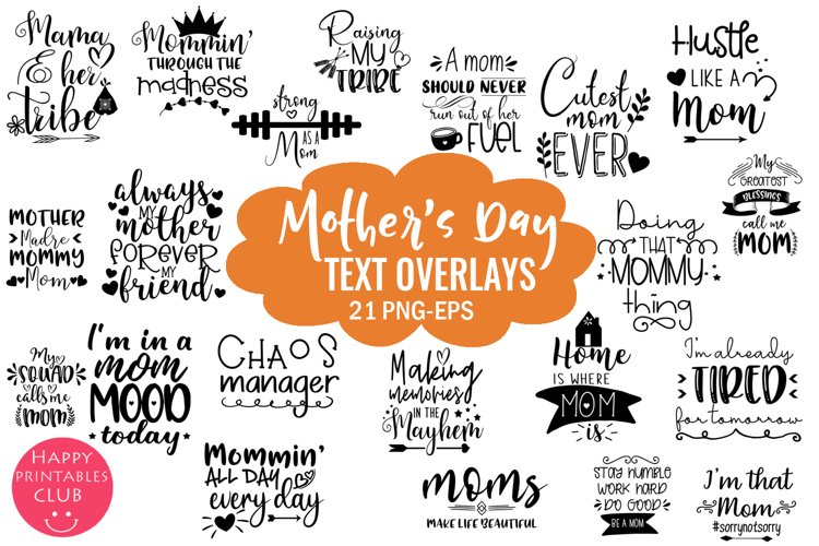 Download Mother S Day Overlays Photo Overlays Word Art Mom Quotes 519523 Illustrations Design Bundles