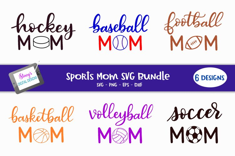 Sports mom SVG bundle - volleyball, soccer , hockey and more example image 1