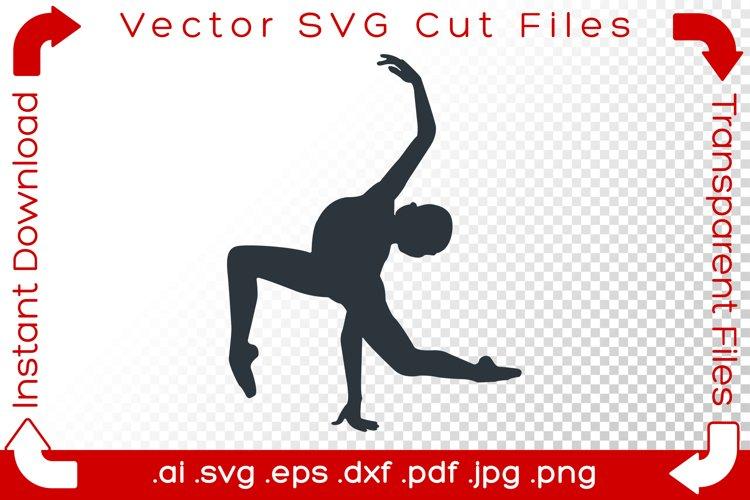 Woman Acrobat SVG Yoga Gymnast Silhouette Dancer Cut Files example image 1