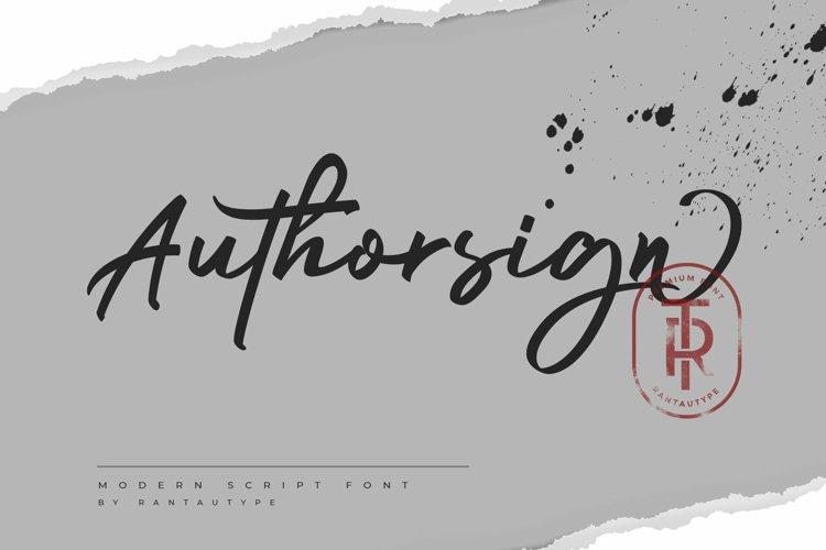Authorsign
