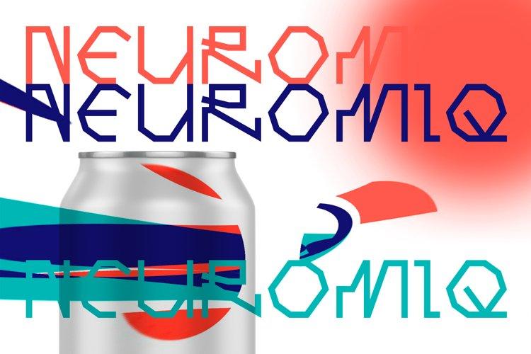 Computer line decorative font. Neuromiq. example image 1