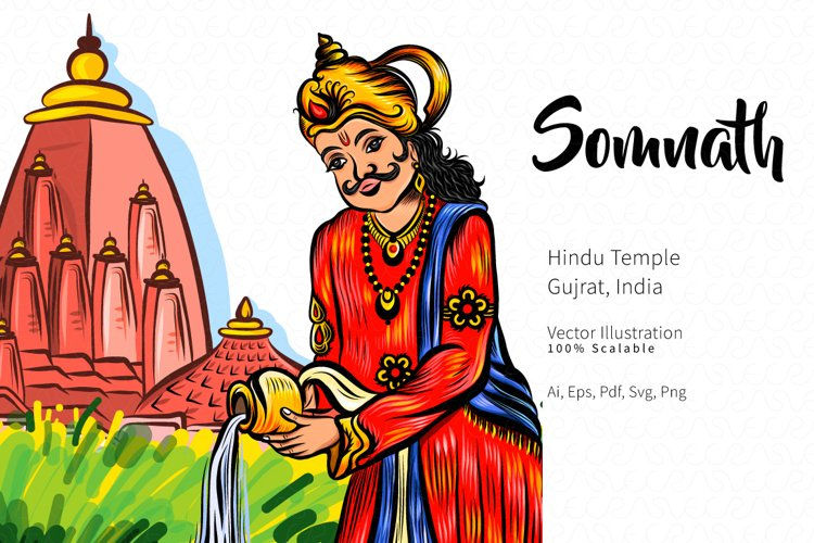 Somnath Vector Illustration example image 1