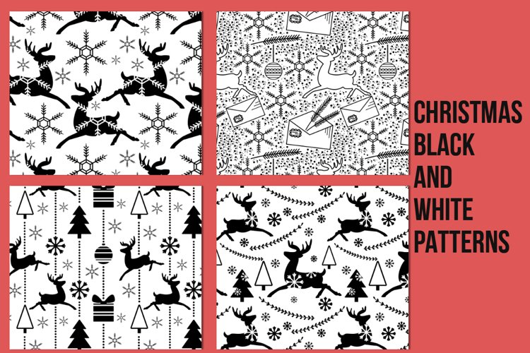 Christmas Black and White Patterns