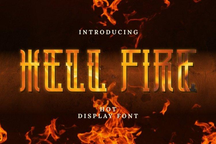 Web Font Hellfire Font example image 1