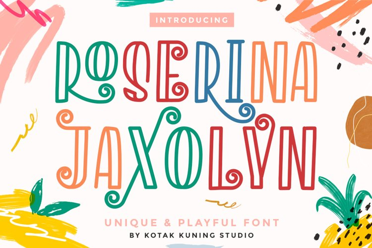 Playful Decorative Font - Roserina Jaxolyn example image 1