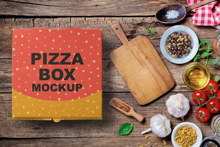 Pizza Box Mockup example image 1