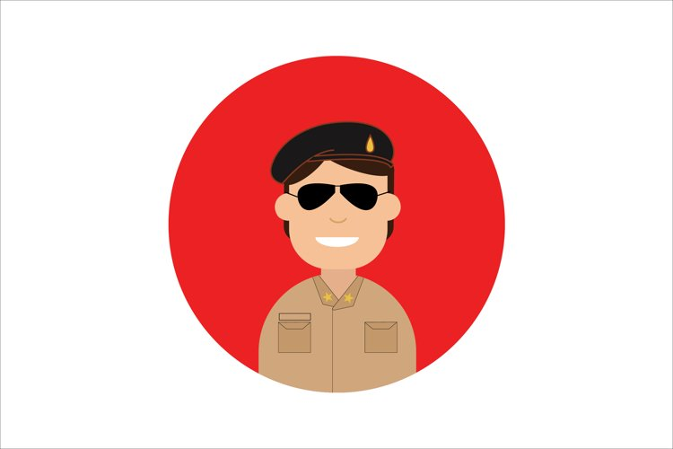 Icon Character Police with Black Glasses example image 1