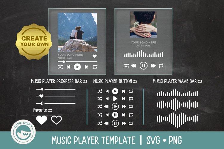 BEST SELLER - Music Player Plaque Custom Design SVG example image 1
