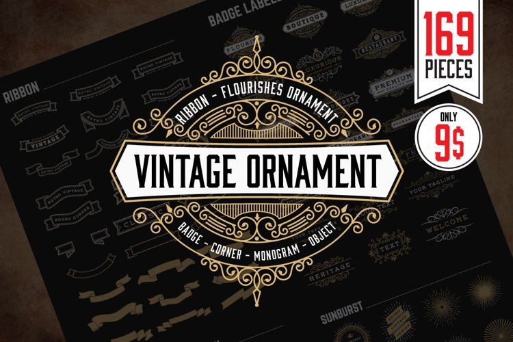 Vintage Badges and Ornament Objects