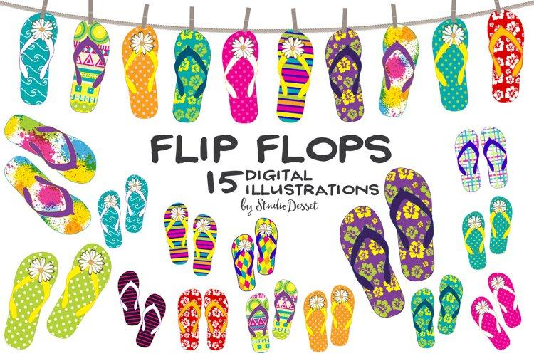 Flip Flops - Summer, Beach Cliparts
