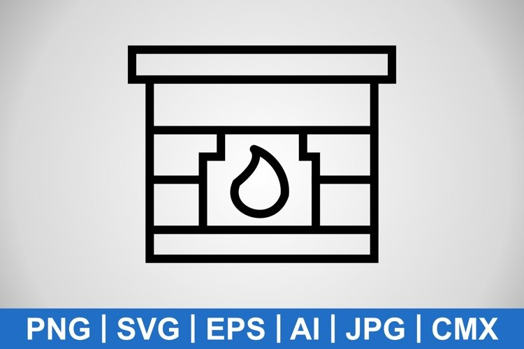 Vector Fire Place Icon example image 1
