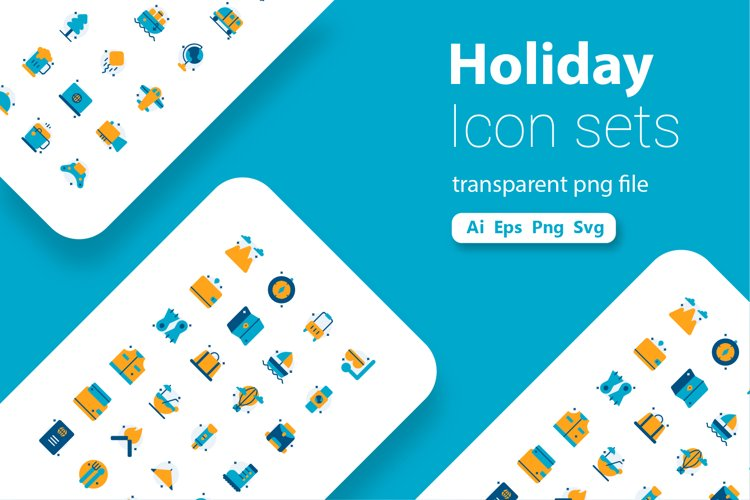 Summer Holiday Flat Icon Pack