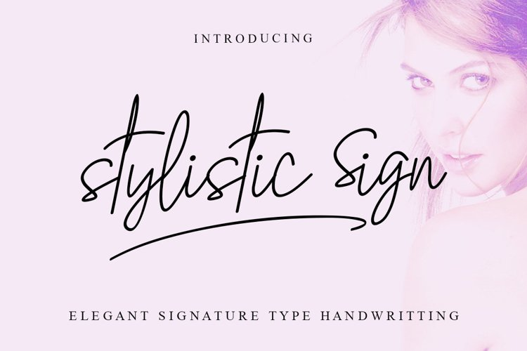 Stylistic Sign example image 1