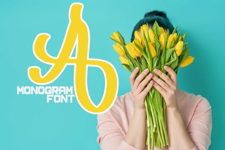 Web Font Monogram Font - Hand Lettered Monogram Letters A-Z example image 1