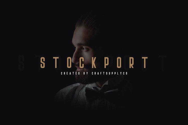 Stockport Font + Bonus Logo example