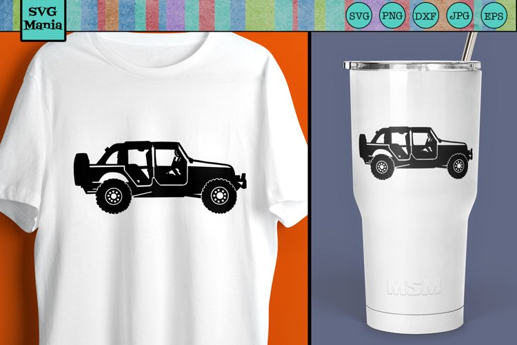 Jeep SVG, Jeep Silhouette SVG, Off Road Vehicle SVG, SVG example image 1