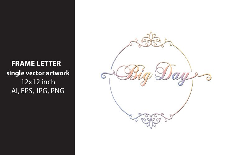 Big Day - single vector artwork example image 1