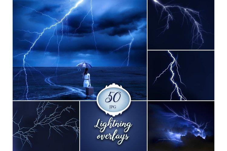 50 Lightning Photo Overlays