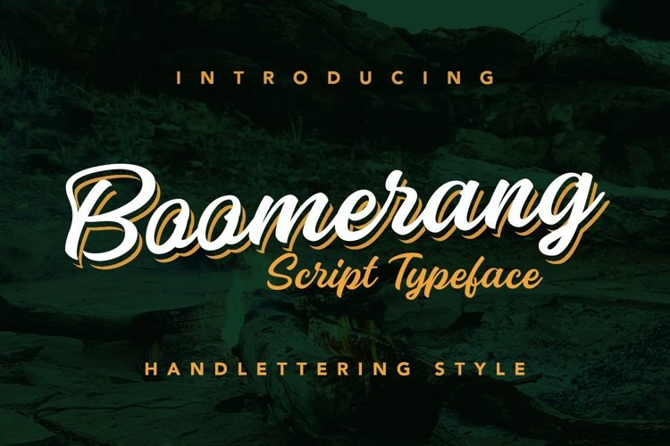 Web Font Boomerang example image 1