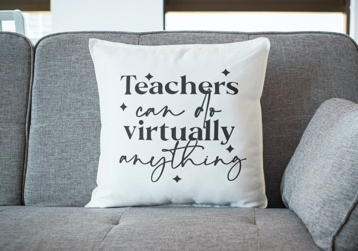 Teachers can do anything SVG, virtual teacher, teacher SVG example 4