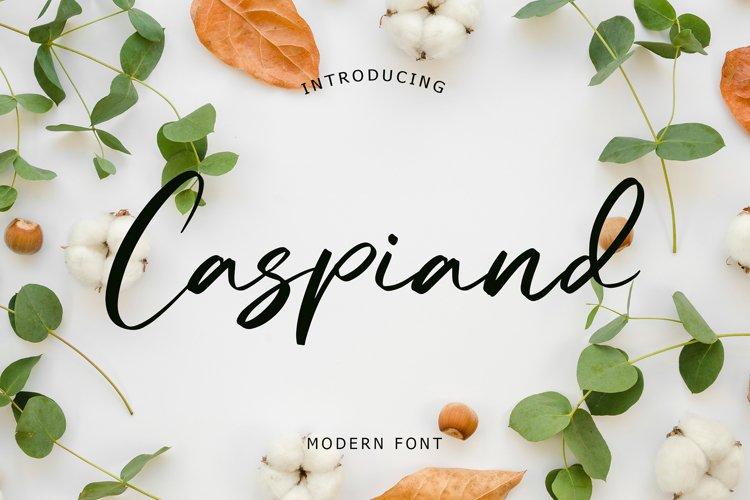 Caspiand Modern Font example image 1